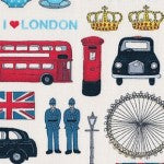 London Icons by Makower UK in the Collection London 981/1 - £1.20/10cm