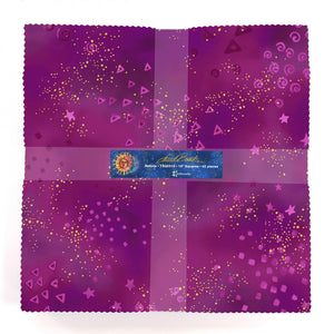 "Nebula  10"" squares  by Laurel Burch for Clothworks - TSQ0310  £34.00"
