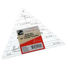 Multi Size Equilateral Triangle Template/Ruler NL4169