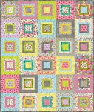 "Patchwork pattern for Uptown using fabric by Kim Schaefer and Andover Fabrics. Quilt measures 60""x72"" £0.00"