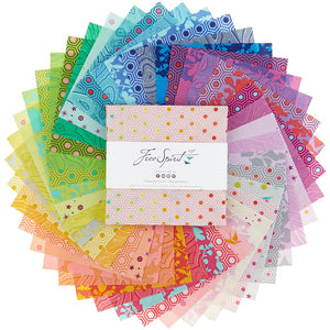 "5""  Squares True Colors by Tula Pink for Free Spirit 42pcs"