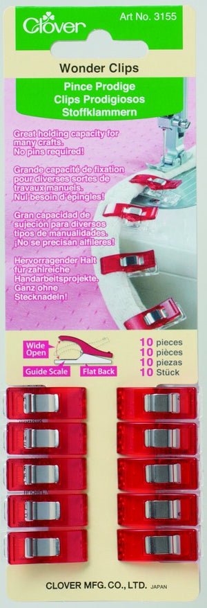 Wonder Clips Red- 10pc  3155