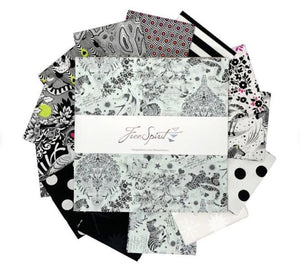 "10""  Squares Linework by Tula Pink for Free Spirit 42pcs"