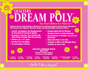 Quilters Dream Poly Select (Mid Loft) Wadding
