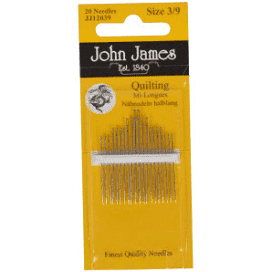 John James  Quilting Needles Size 3/9 20ct