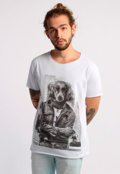 CAMISETA MASCULINA CORTE A FIO - THE DOG DTG