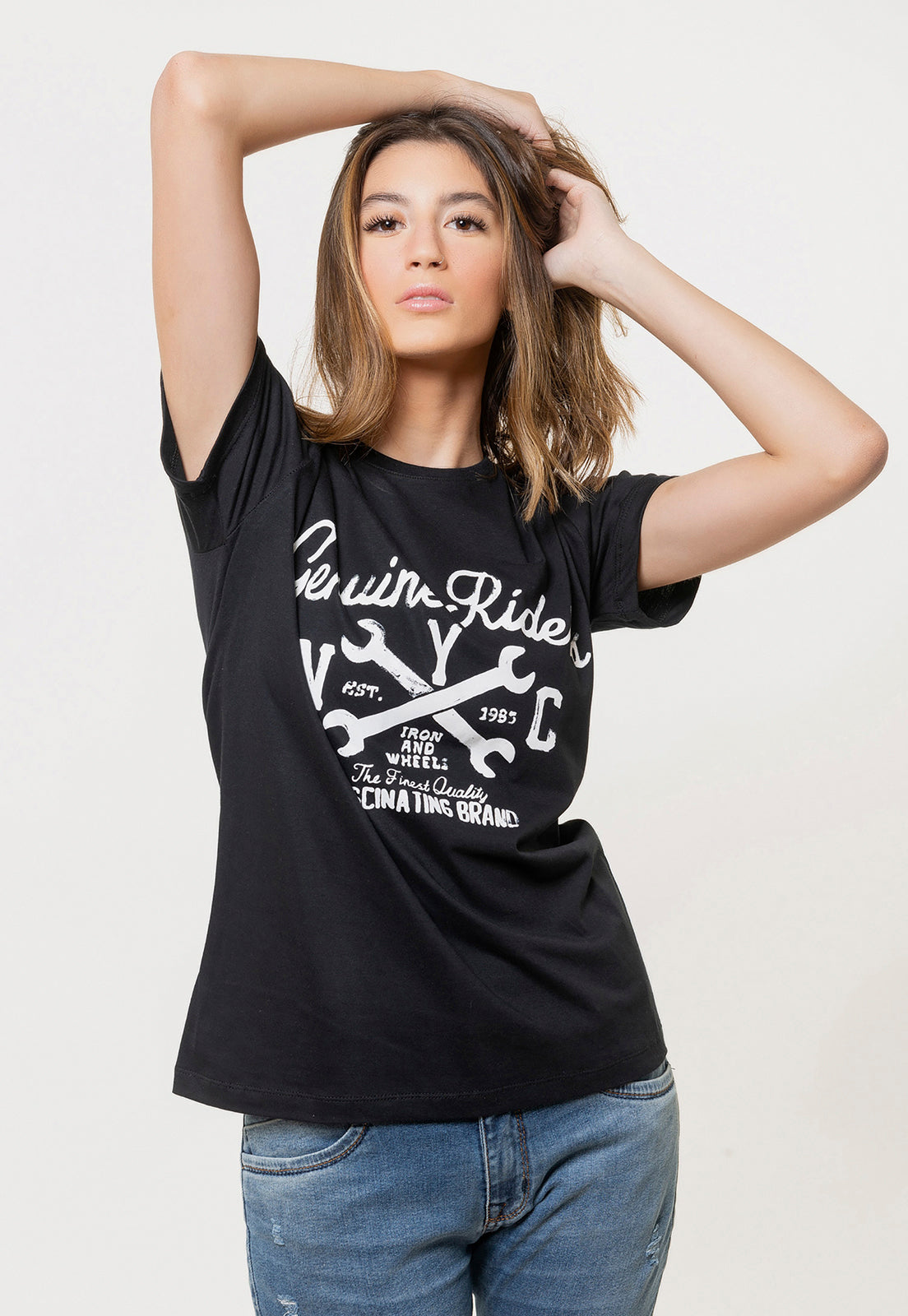 CAMISETA FEMININA ESTAMPADA JOSS - GENUINE RIDERS