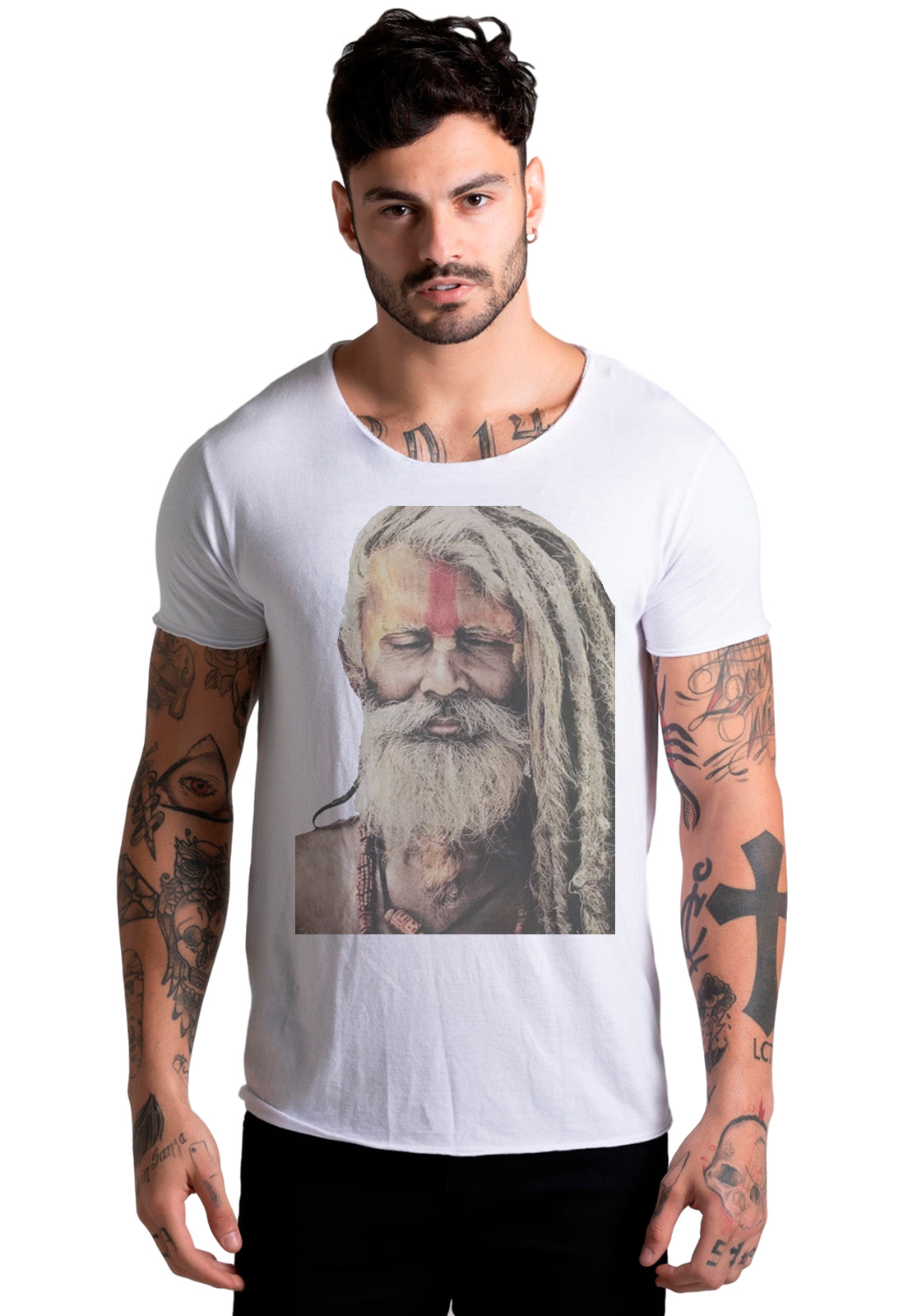 CAMISETA MASCULINA CORTE A FIO - OLD WISE DTG