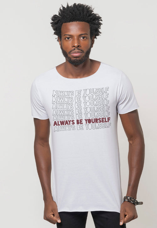 CAMISETA MASCULINA CORTE A FIO - ALWAYS BE YOURSELF DTG