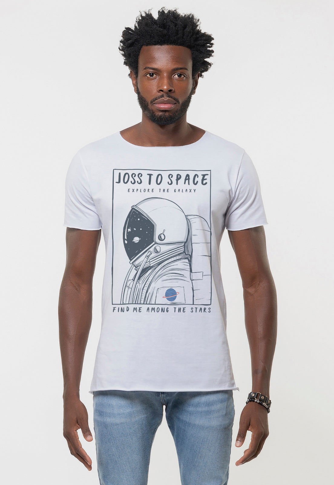 CAMISETA MASCULINA CORTE A FIO - AMONG THE STARS DTG