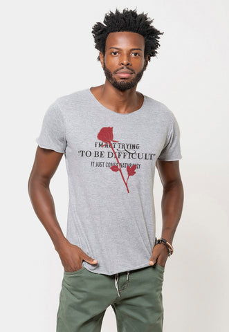 CAMISETA MASCULINA CORTE A FIO - NOW OR NEVER DTG