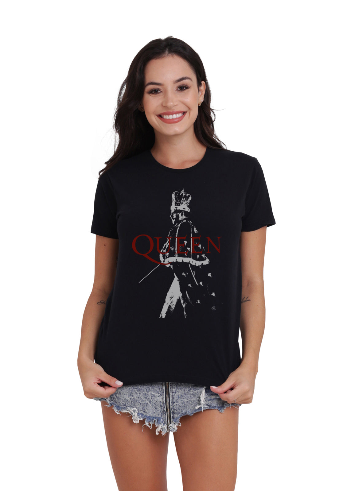 CAMISETA FEMININA BÁSICA - QUEEN NEW