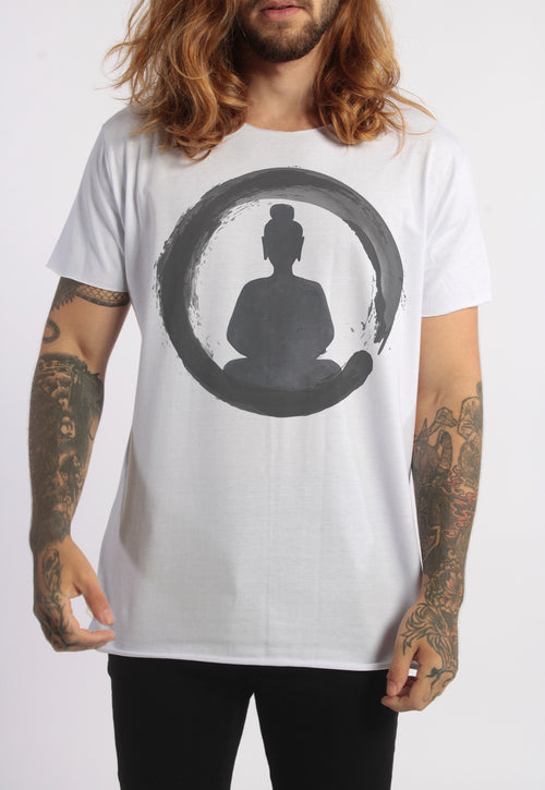 CAMISETA MASCULINA CORTE A FIO - THE MEDITATION DTG