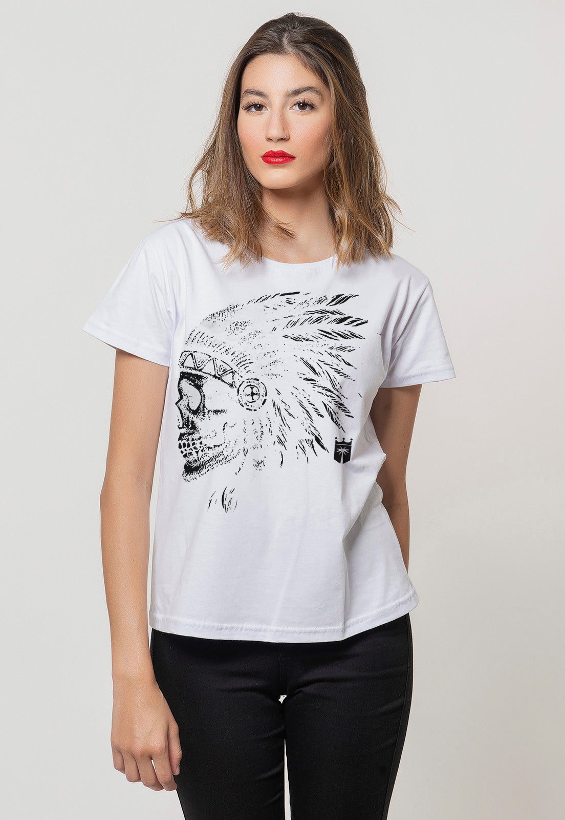 CAMISETA FEMININA BÁSICA ESTAMPADA JOSS - NATIVE