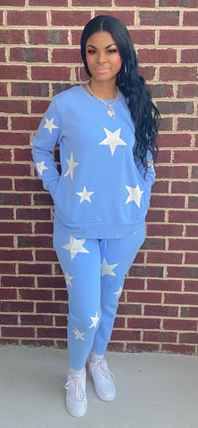 STAR GIRL JOGGERS SETS (SPRING BLUE)
