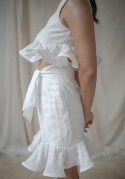 Crimped Ruffle Skirt