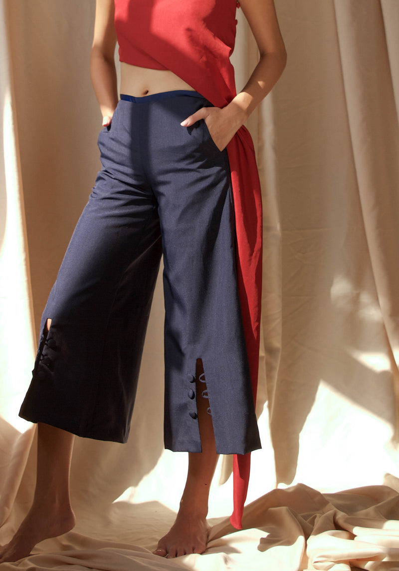 Ribbon Tailored Culottes