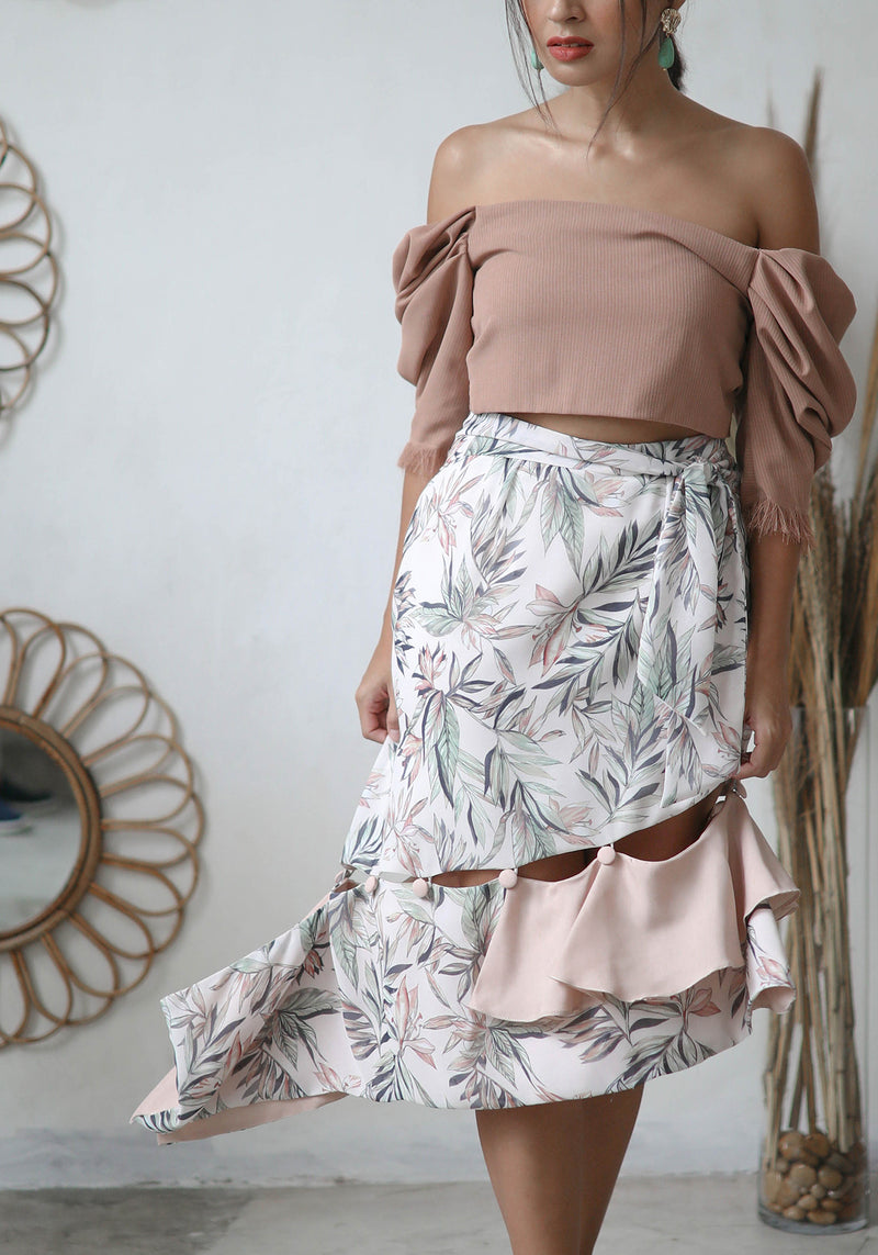 Jardin Button Skirt