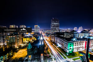 Downtown London, Ontario At Night (Stock Images)