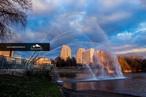 Fountain at the Fork of the Thames - London, Ontario (Stock Images)