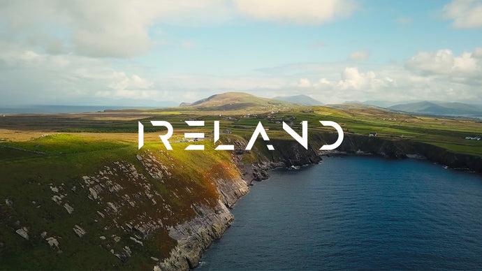 Skellig Ring / Portmagee, Ireland (Aerial 4K & 1080p Stock Footage)