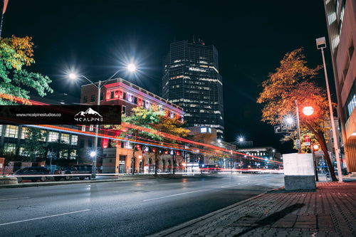 Street Level - Downtown London At Night (Stock Images)