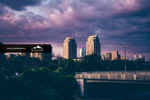 Purple Sunset Over London, Ontario (Stock Images)