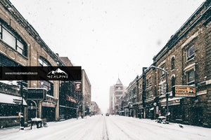 Snowy Day On Richmond Road - London, Ontario (Stock Images)