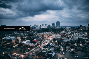 Stormy Clouds Over London - Downtown London, Ontario (Stock Image)