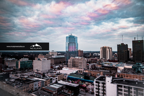 Sunset Over Downtown London, Ontario (Stock Images)