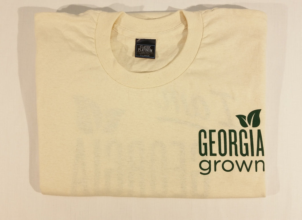 Adult T-Shirt, s/s,  not part of the 100% Georgia Grown Cotton Project, but USA made, Natural