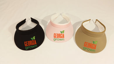Visor, clip on style with large Georgia Grown logo