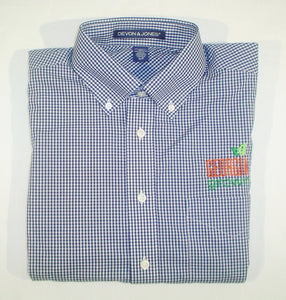 "Picture of ""Devon and Jones"" navy checked woven men's shirt"
