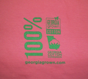 Folded red Georgia Grown t-shirt