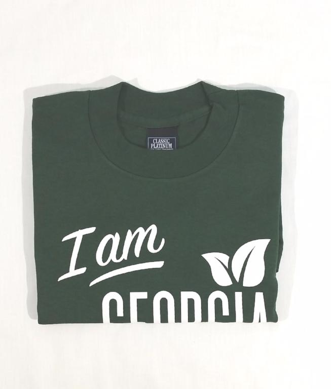 Folded Green T-shirt with large