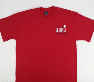 Adult T-Shirt, s/s,  not part of the 100% Georgia Grown Cotton Project, but USA made, Red