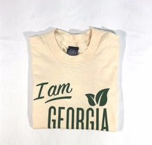 "Folded view of Natural color ""I am Georgia Grown"" t-shirt"