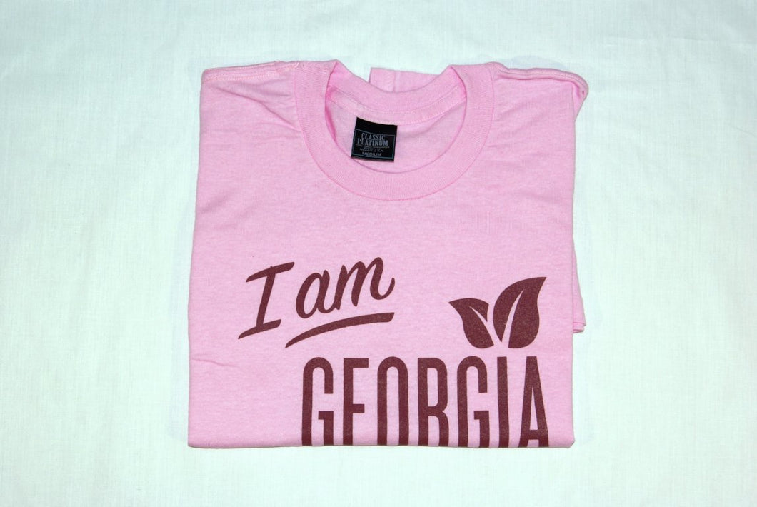 Folded t-shirt with large 'I am Georgia Grown
