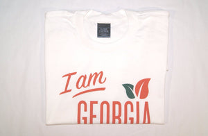 "Folded view of ""I am Georgia Grown"" t-shirt"