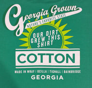 "GREEN T-SHIRT ""OUR DIRT GREW THIS SHIRT"" LOGO"