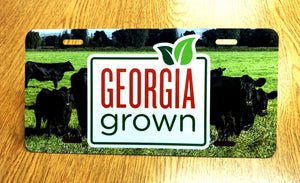 Beef cow photo with Georgia Grown logo