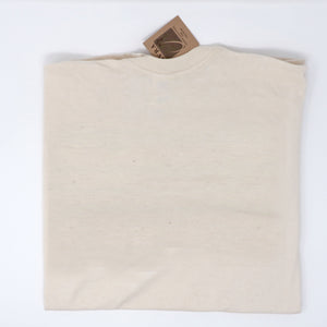 Picture of natural t-shirt made from 100% Georgia grown cotton