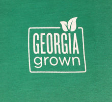 CLOSE-UP VIEW OF GEORGIA GROWN LOGO