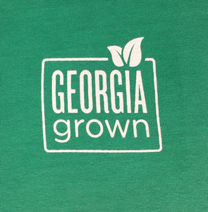 Picture of Georgia Grown logo on upper left chest area