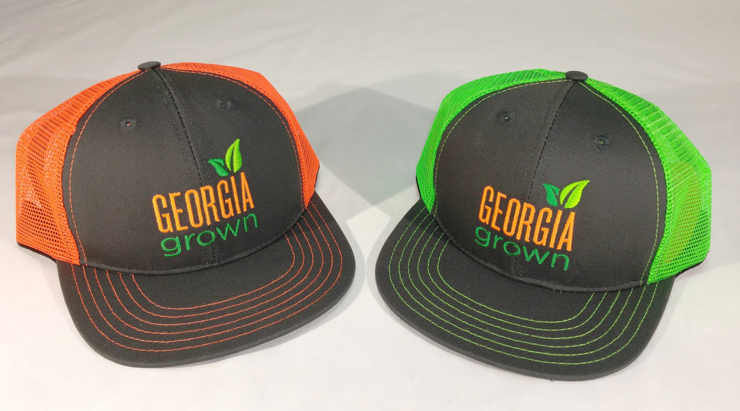 Baseball cap, mesh panels with large Georgia Grown logo