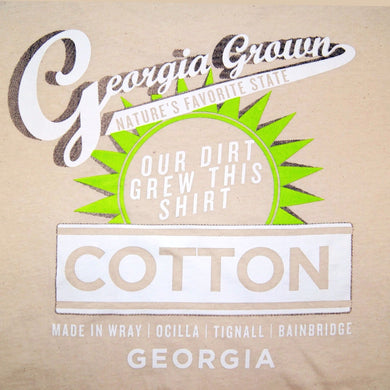 Adult t-shirt, Natural with Our Dirt to Your shirt logo on back