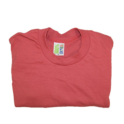 Picture of red t-shirt made from 100% Georgia grown cotton