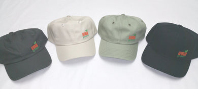 Baseball caps, solid panels with small Georgia Grown logo