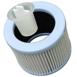 Particle filter with activated carbon for BULDAIR