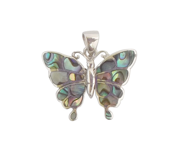 Abalone Shell Butterfly Pendant